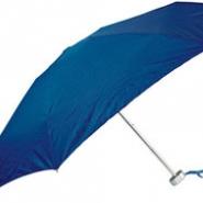 Зонт складной механический в футляре, синий
