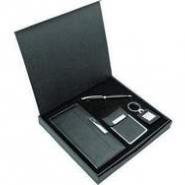 Набор: визитница, футляр для кредитных карт, брелок, ручка