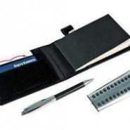 Набор: визитница с блокнотом, ручка, калькулятор